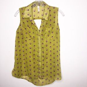 Button up sleeveless top | Size Small